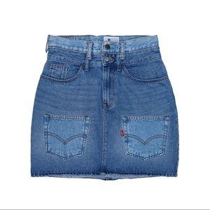 Reworked Denim Skirt